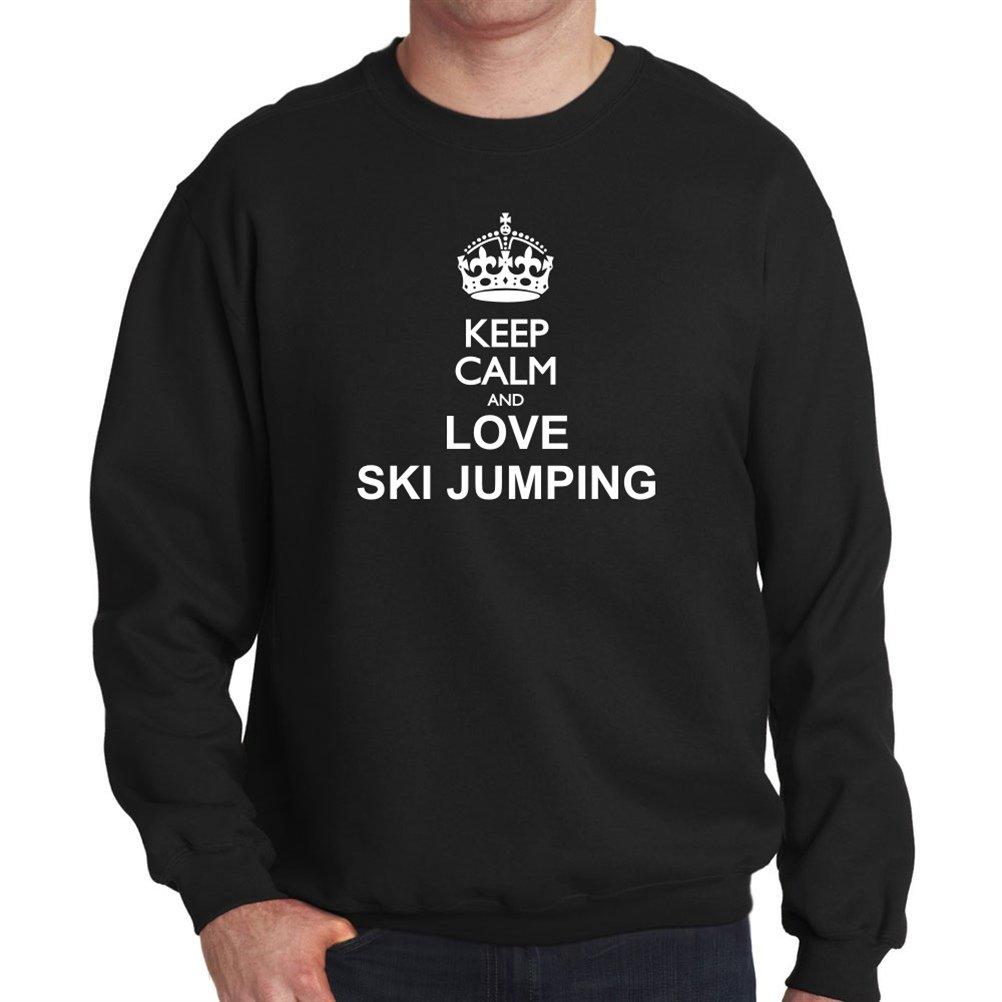 Keep calm and love Ski Jumping Sweatshirt