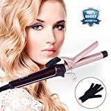 Curling Iron Set, KZWUS Professional Curling Wand Hair Curling with Interchangeable Ceramic Barrel and Heat Protective Glove, Dual Voltage Hair Curler for All Hair Types, Great Gift for Girls Women