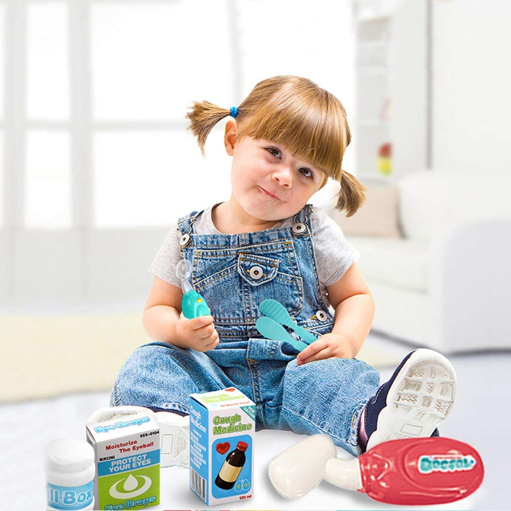 Play House, Doctor Set Doctor Toy, Simulation Stethoscope Injection Set Children's Multi-function Doctor's lkoezi Children's Day Gift (Multicolor)