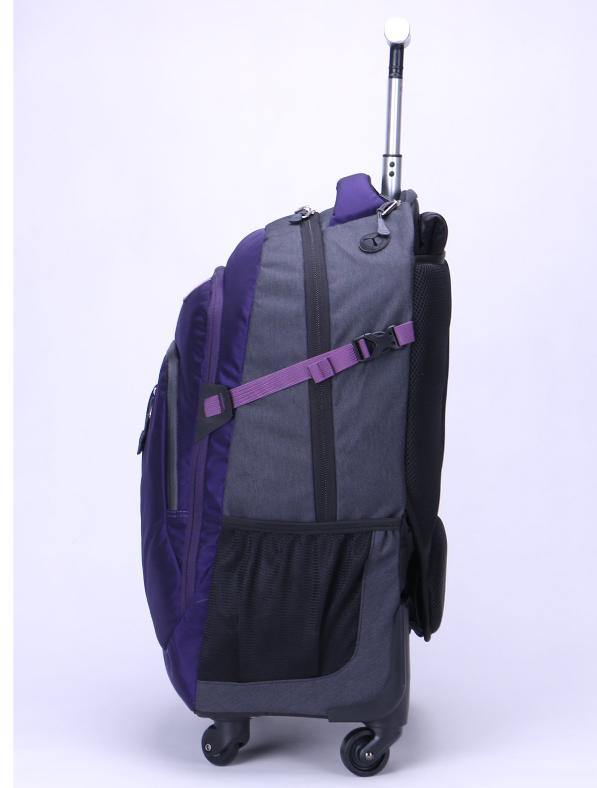 AOKING 20/22 Inch Water Resistant Travel School Business Rolling Wheeled Backpack with Laptop Compartment (Purple, 20 Inch) by JOLLYCHIC (Image #3)