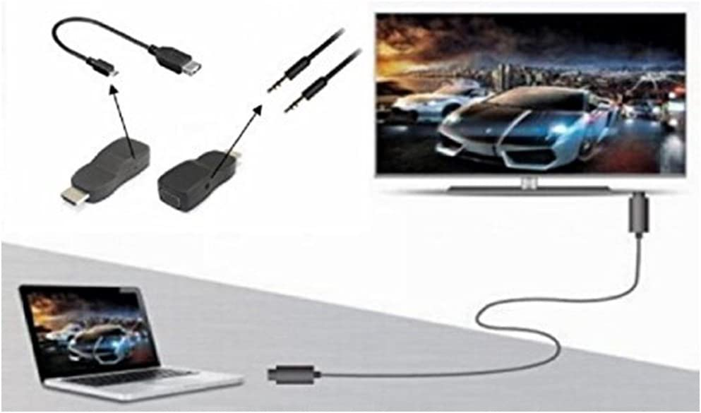 Built-in Chipset PrimeCables/® HDMI 1.4 Male to VGA Female with 3.5mm Audio Adapter
