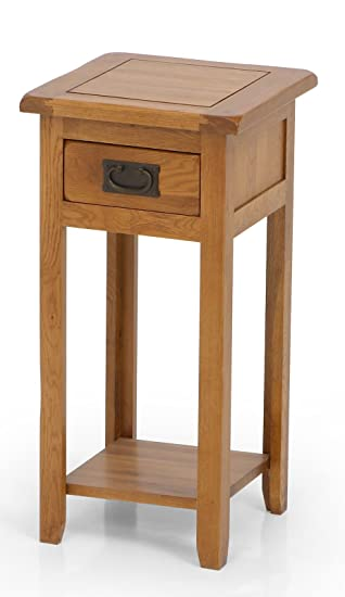 plant stands ukgardens solid oak tall wooden plant stand side table with drawer