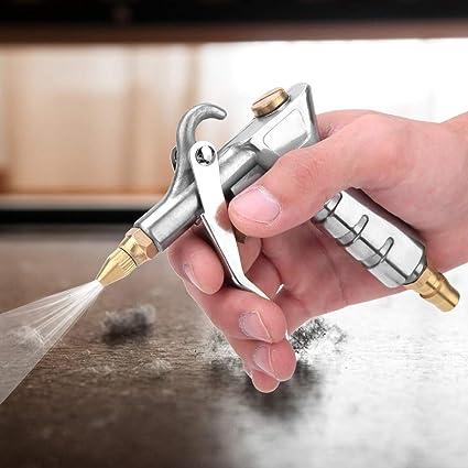 pistola de soplado de aire de 8 mm Boquilla larga Soplador de polvo Caja de la computadora Limpiador del motor Herramienta de soplado de polvo Pistola de soplado de aire