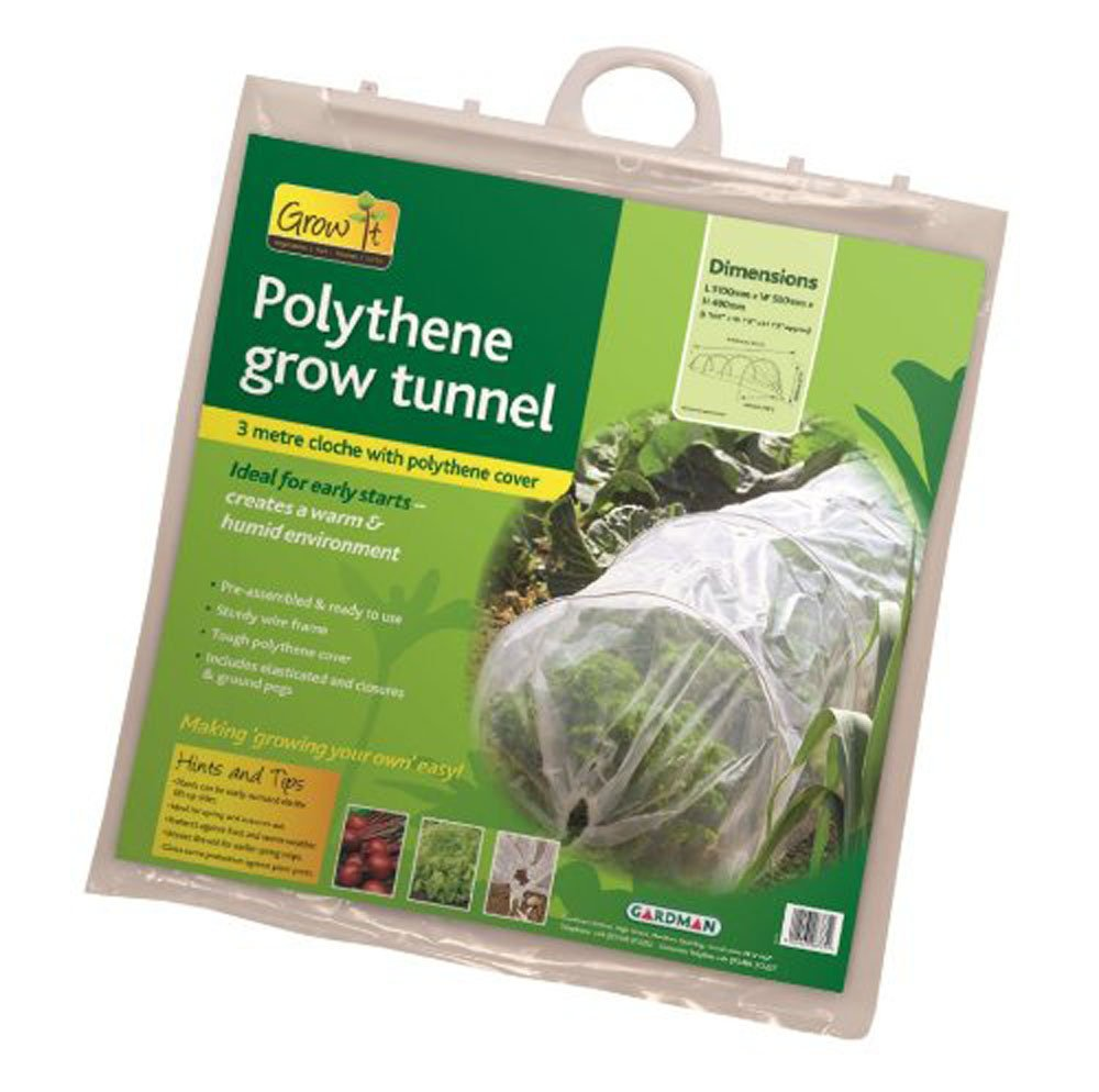 Set of 2 x 3 Metre Polythene Grow Tunnel Garden Cloche Selections