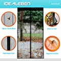 "[2016 New Version,86 inches Magnetic Strip]Magnetic Screen Door with Heavy Duty Mesh & Full Frame Velcro,Automatic Snap, Suitable for door size from 36*82 up to 43"" x 86"" by Idealeben"