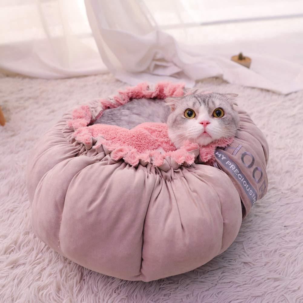 X-CWW Inverno Caldo Peluche Pet House Cat Dog Bed Bed Bed Mat rosa Multifunzione rossoondo Accogliente Lavabile (Dimensioni   S.) 8f815e