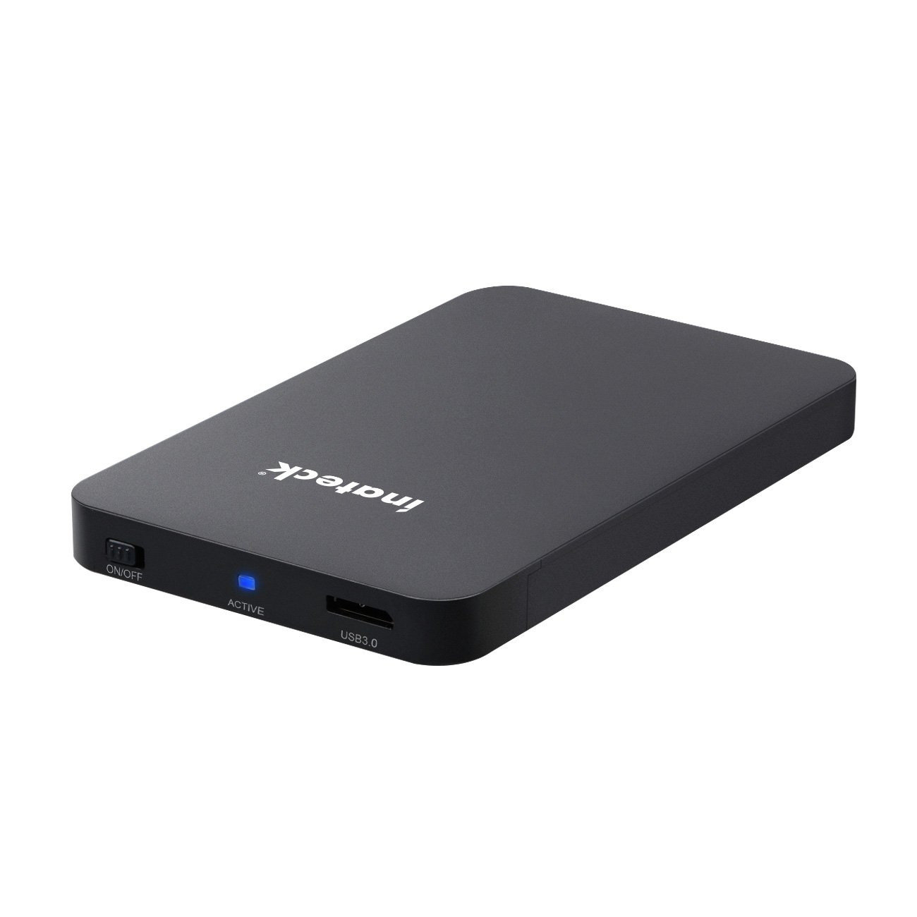 Inateck USB 3.0 External Hard Drive Enclosure Case for 9.5mm 7mm 2.5-Inch SATA HDD and SSD, Support UASP and Optimized for SSD, Tool-Free (FE2010)