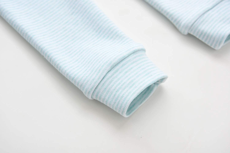 Enfants Ch/éris Toddler Boys Girls Jammies Stripes Organic Cotton Pajamas