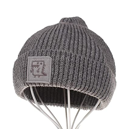639af27c03416 Amazon.com  Gallity Toddler Winter Hat Cold Weather Hat Infant Baby Boys  Girls Knited Woolen Outdoor Ski Hat (Gray)  Garden   Outdoor