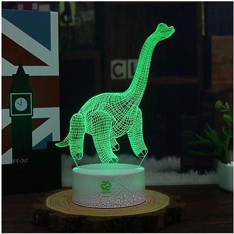 Amazon.com: Dinosaur Illusion luz nocturna para niños ...