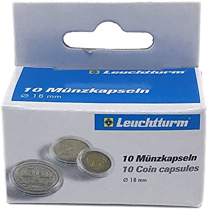 QTY: 1000 DIME Direct-Fit Airtight 18mm Coin Capsule Holders For DIMES