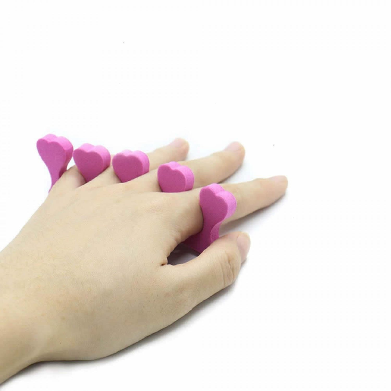 Buorsa Pack of 100 Soft Foam Sponge Toe Separators Finger Separators Dividers Nail Art Manicure Pedicure Tools