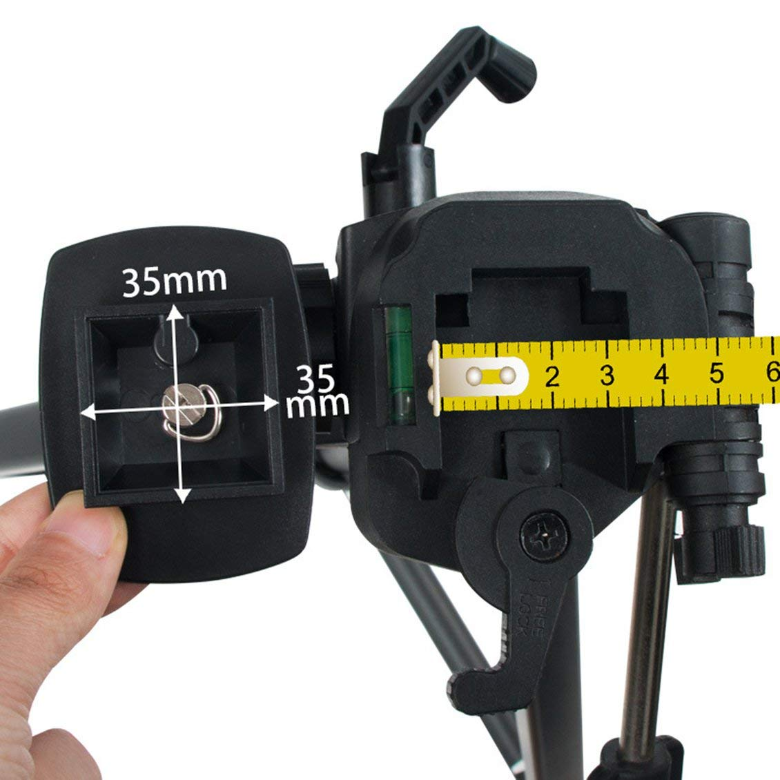 Tr/ípode Llave de montaje de c/ámara fija Accesorios de cabeza esf/érica de liberaci/ón r/ápida Mini adaptador de clip de abrazadera de placa negra-Negro
