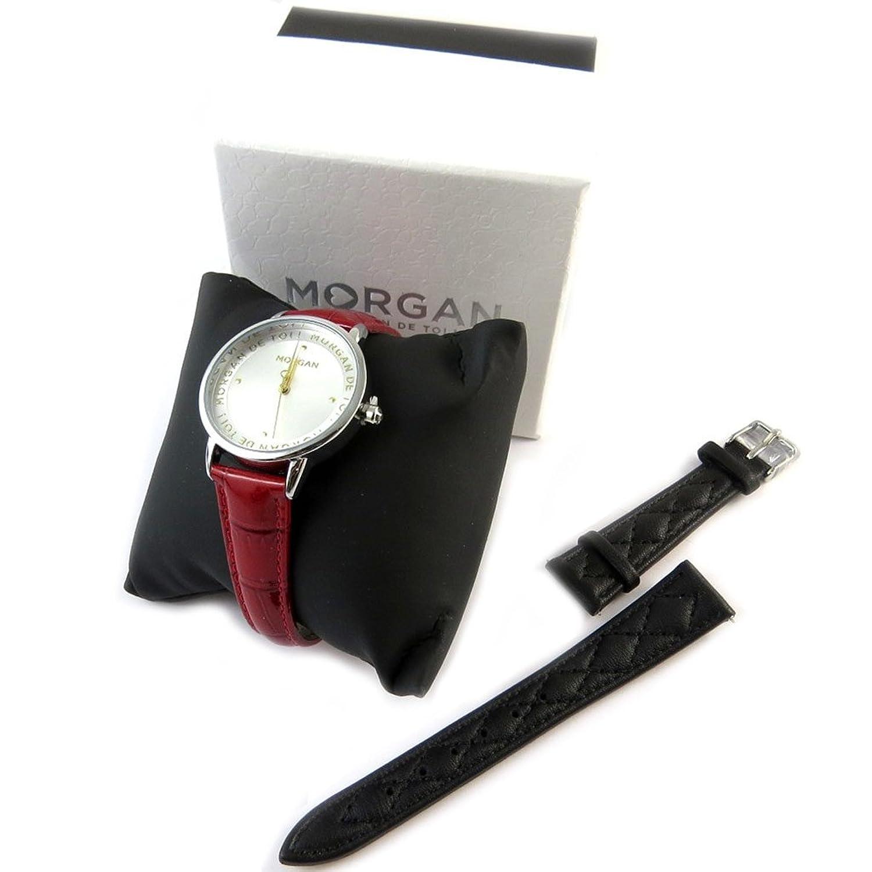 Box-shows + armband 'Morgan'schwarz silber rot.