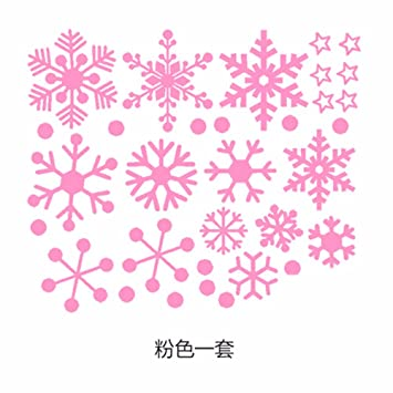 Snowflake Christmas Stickers Clothing Shop Window Glass Door Decorations  Stickers Glass Wall Stickers Window Stickers Self