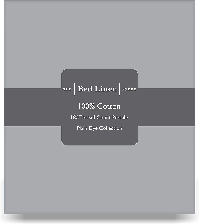 matrimoniale king size Lenzuolo per letto singolo 100/% cotone White Single: 180 x 275cm tinta unita con angoli elasticizzati o piatti