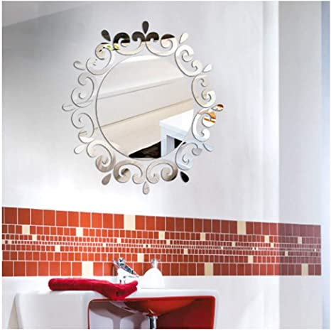 Removable 4Pcs DIY Wall Decal Decor Window Bath Room Mirror Art Sticker Paper