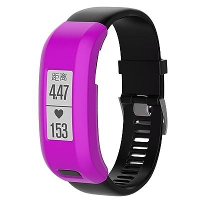 Bescita Coque en silicone Manchon de protection de remplacement pour Garmin vivosmart HR Bracelet de montre, Smart Cover, Housse de protection pour vivosmart HR