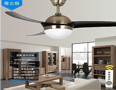 Restaurante, ventilador de techo, lámpara LED simple ventilador ...