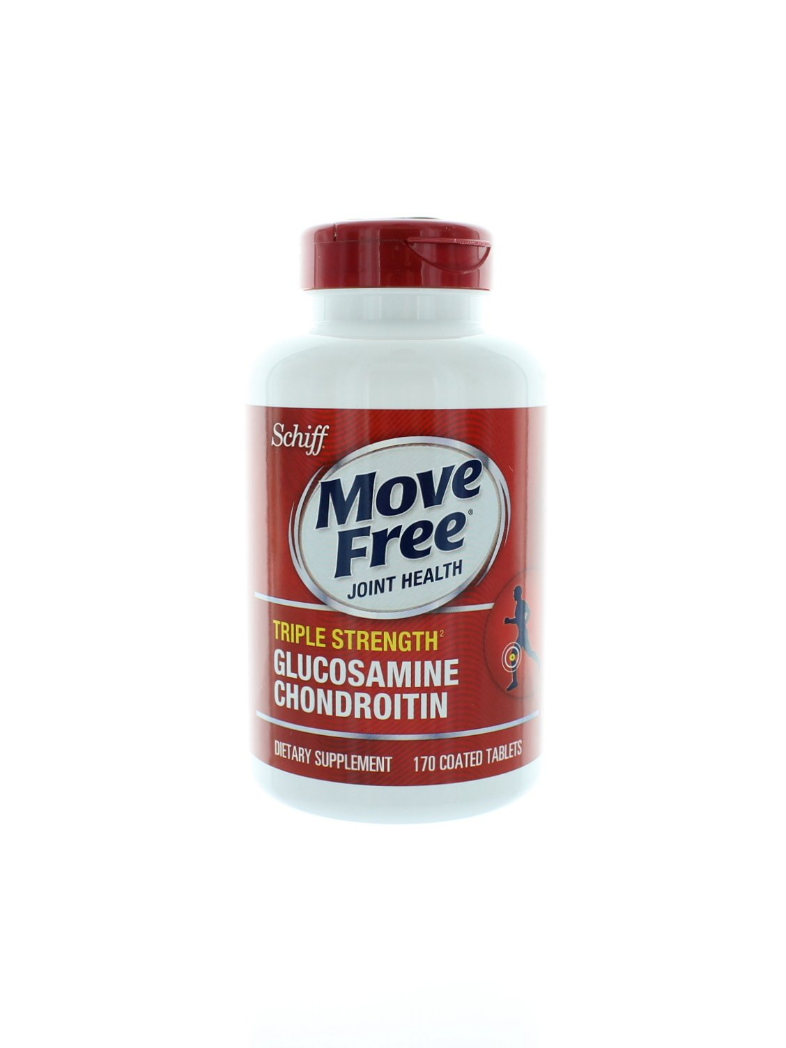 Schiff Move Free Joint Health Triple Strength Glucosamine Chondroitin - 10 Bottles, 170 Tablets Each