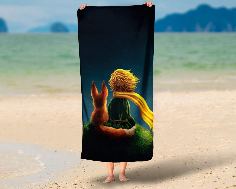 70 x 140 cm 100/% algod/ón Toalla de ba/ño LimeWorks Multicolor dise/ño de El Principito con Zorro 70 x 140 cm
