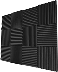 Foamily 12 Pack- Acoustic Panels Studio Foam Wedges 1