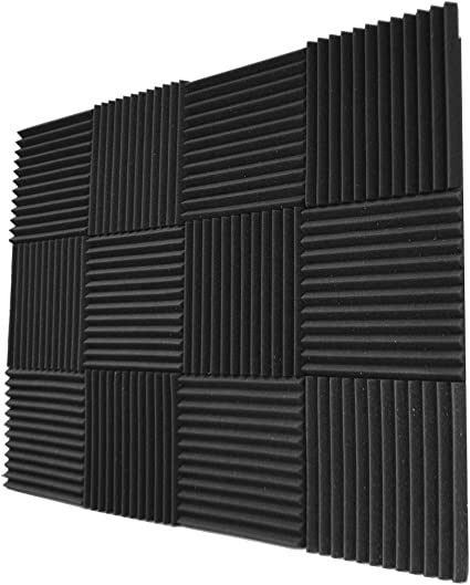 6T 6 Pack All Burgundy Acoustic Panels Studio Soundproofing Foam Wedges 2 X 12 X 12