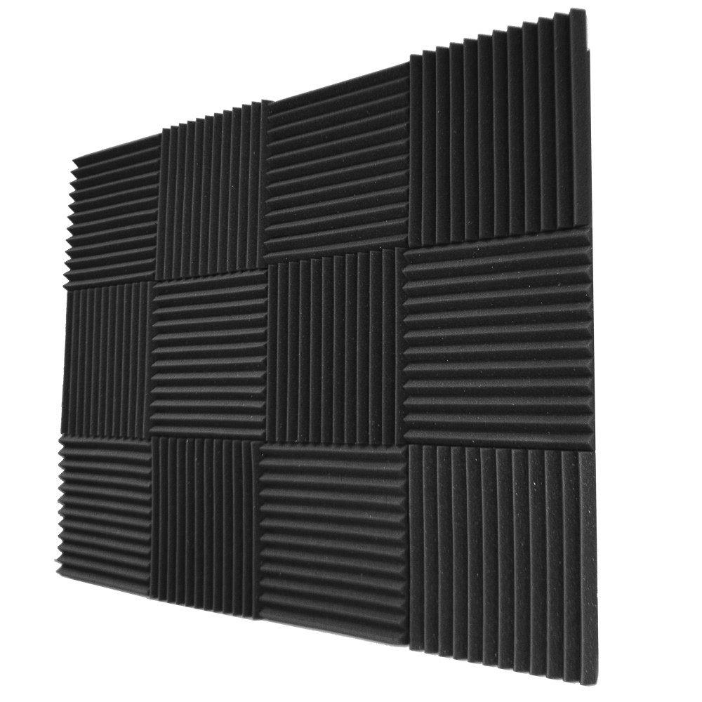 Foamily 12 Pack- Acoustic Panels Studio Foam Wedges 1'' X 12'' X 12'' by Foamily