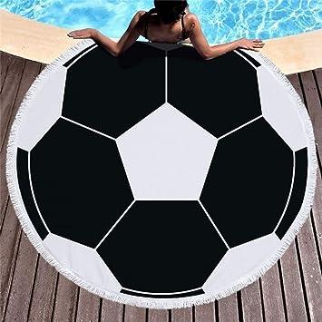 MinegRong Nueva Ronda de fútbol de Verano Toalla de Playa de natación 450 g Suave Microfibra Manta de picnic-150 * 150 cm * 1 unids 1: Amazon.es: Hogar
