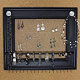Jewelry Organizer Display Rack Holder Picture Frame- 19''x16''- Extra Large Wall Mounted Jewelry