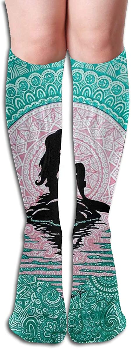 A Mermaid Reflected In The Sea Womens Knee High Socks Winter Warm Boot Socks Tube Stockings
