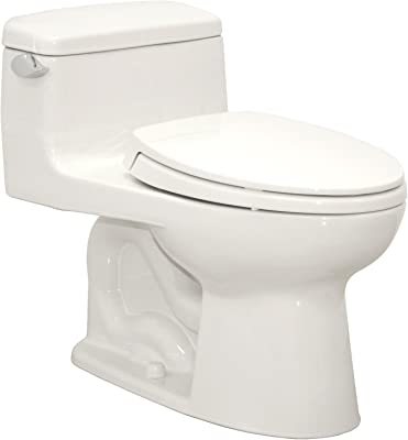 TOTO MS864114#01 Supreme Elongated One Piece Toilet, Cotton White