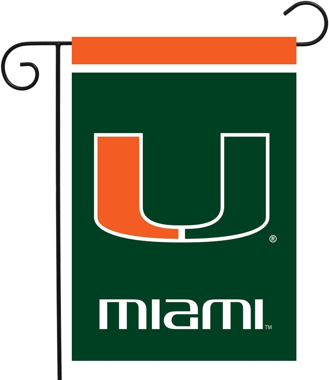 "Briarwood Lane Miami Hurricanes Garden Flag NCAA Licensed 12.5"" x 18"""
