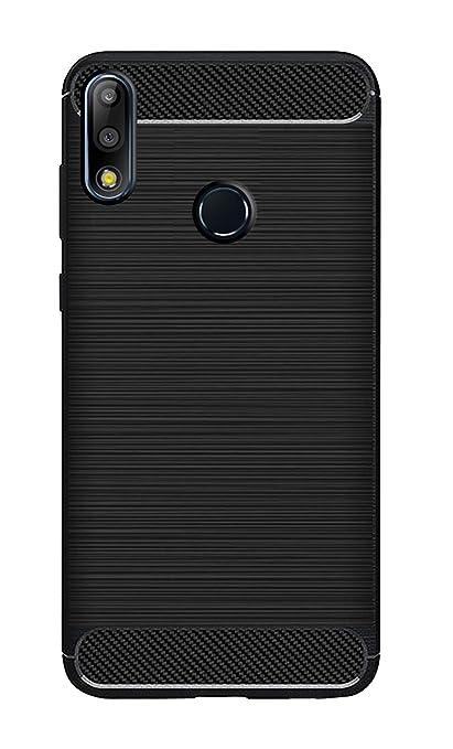 super popular b7c6b 4ef37 ZAPCASE Back Cover Case Compatible for Asus Zenfone Max Pro M2 / Asus  Zenfone Max Pro M2 Cases & Covers (Carbon Fiber Rugged Armor Black Color)
