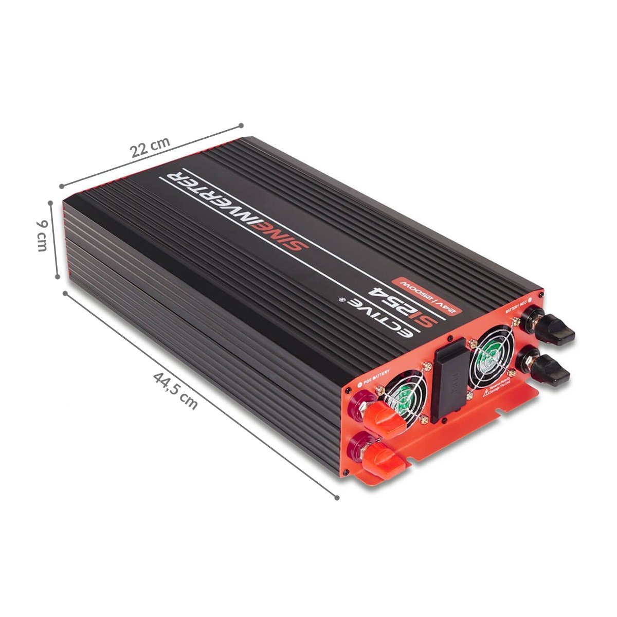 ECTIVE Serie SI caz | Inversor de onda sinusoidal 12V a 230V | 2500W | Los transformadores de tensión, transformadores de corriente, convertidor de energía, ...