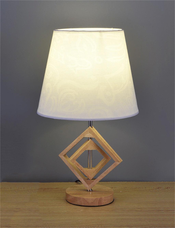 Lámpara de Mesa Creativo Sencillo Decorativo de Madera de LED el para el LED Estudio, Sala de Estar, Dormitorio, lámpara de cabecera (Estilo : B) 33f432