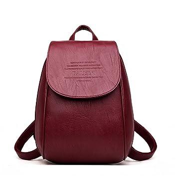 Mujer mochila de viaje escolar Bagpack marcas de cuero Bolsos con bandoleras Mochilas para niñas: Amazon.es: Equipaje