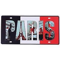 eureya París Auto de la matrícula coche etiqueta