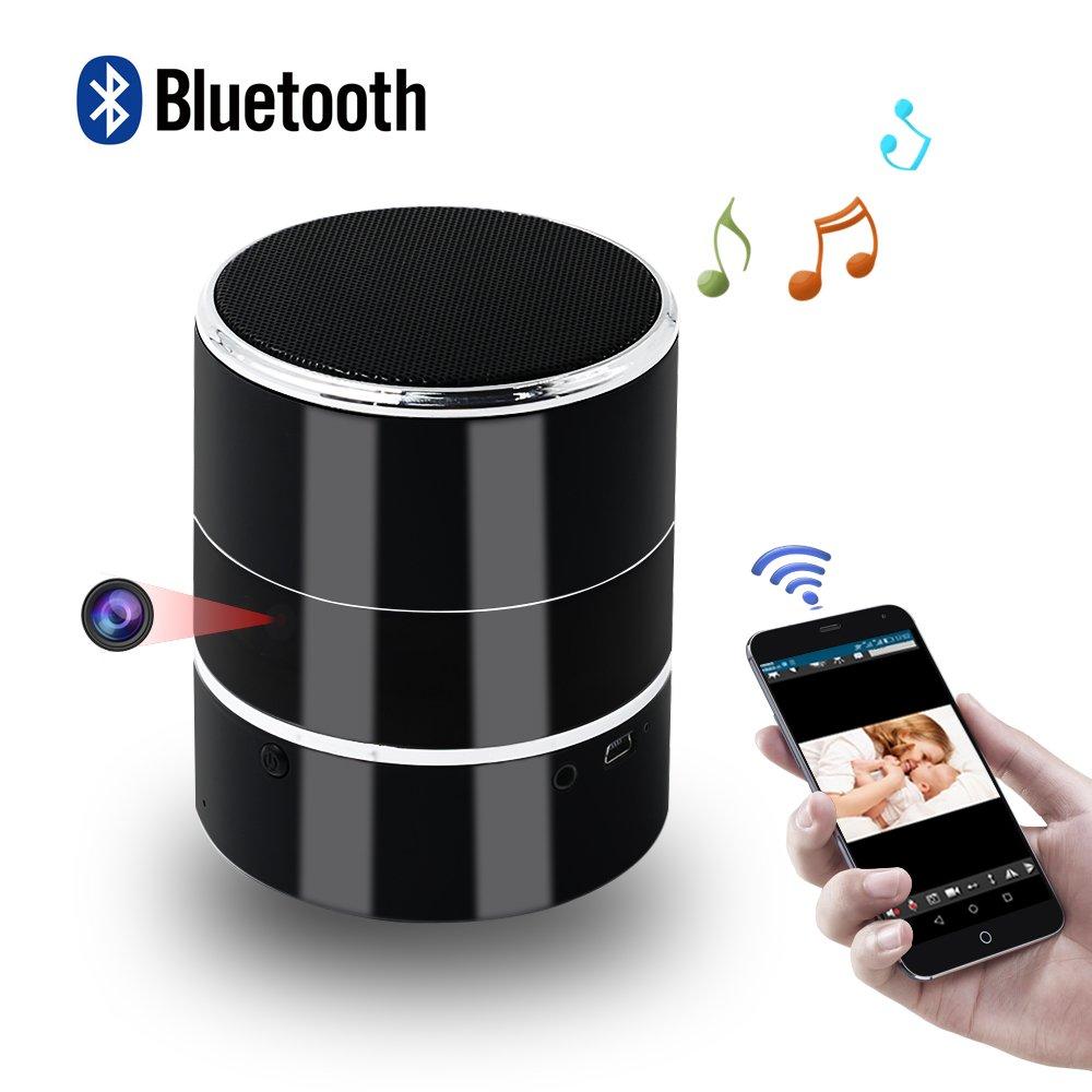 Camara Espia Oculta, Mini Spy CAM WiFi, TANGMI HD Altavoz Bluetooth Video Vigilancia 1080P Grabador de Detección de Movimiento Seguridad del ...