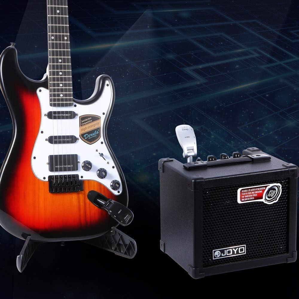 Getaria Sistema Inalámbrico Guitarra 2.4GHz Guitarra Transmisor ...