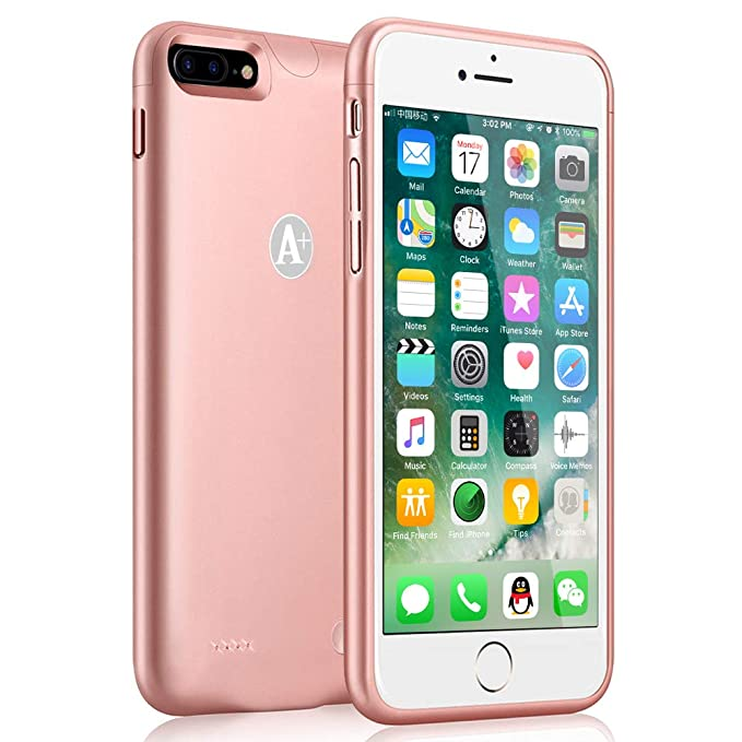 pretty nice 91d64 b7b83 iPhone 7 Plus/8 Plus Battery Case, Gasopic 4000mAh High Capacity Charger  Case for iPhone 7 Plus/8 Plus Charging Case (5.5 Inch)-Rose Gold
