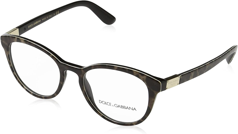 Dolce /& Gabbana Womens DG3268 Eyeglasses Leoprint 48mm