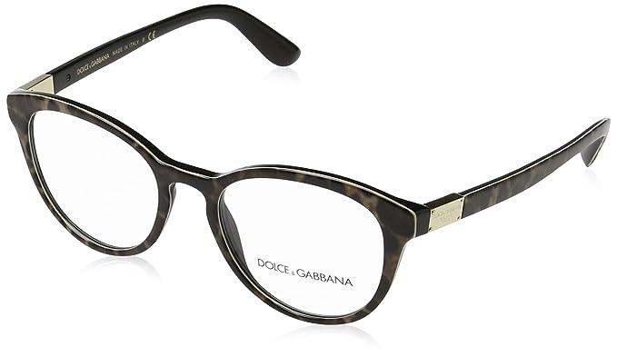 Dolce   Gabbana dg3268 lunettes en léopard sur fond noir DG3268 1995 50  Leopard Clear 50 3efc9b6d5742