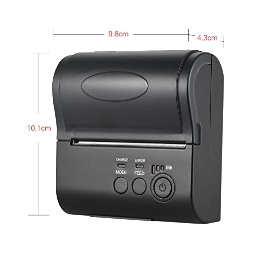 KKmoon Impresora de Recibos Térmica POS-8001DD 80mm Mini Bluetooth ...