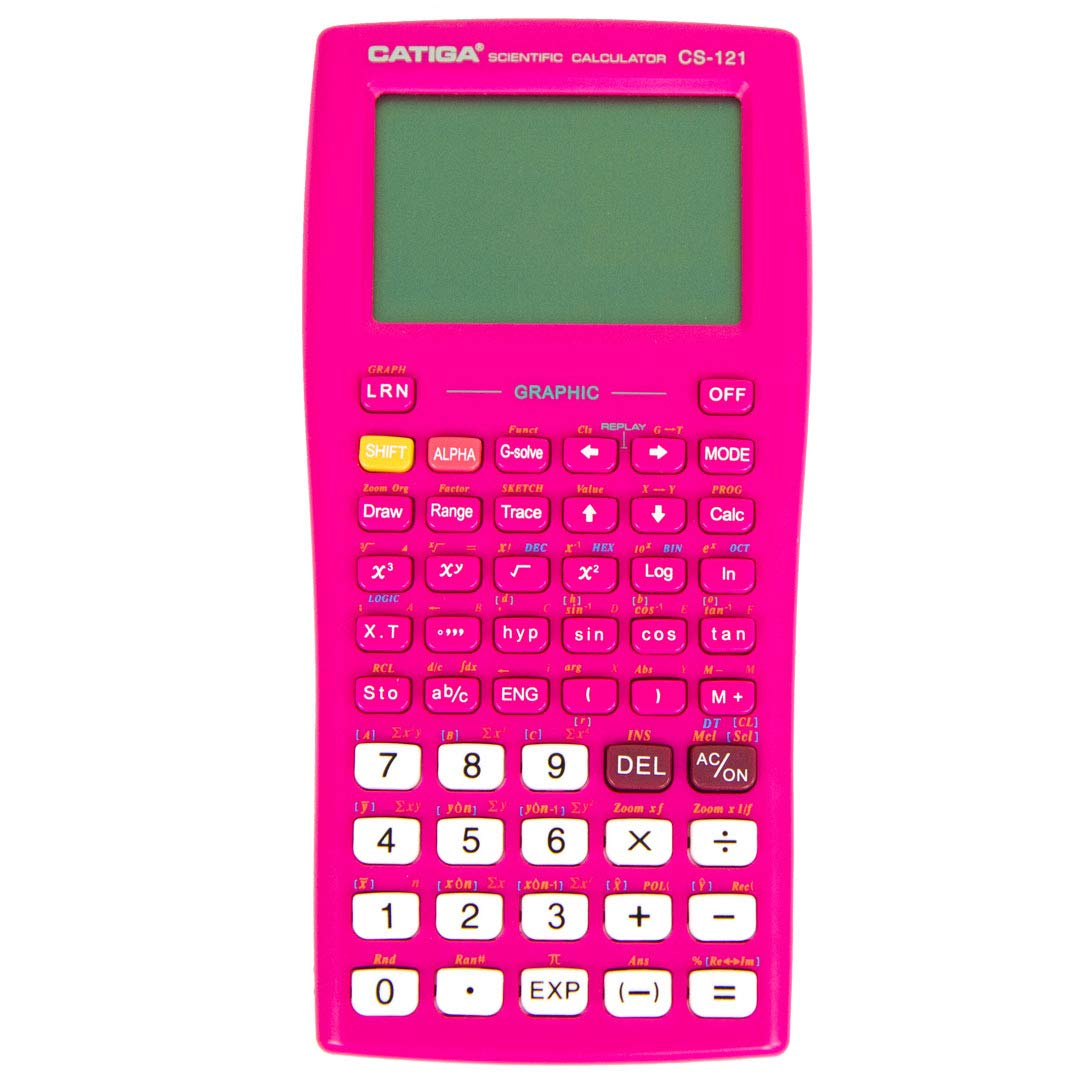 Graphing Calculator - CATIGA CS121 - Scientific and Engineering Calculator - Programmable System (Pink)