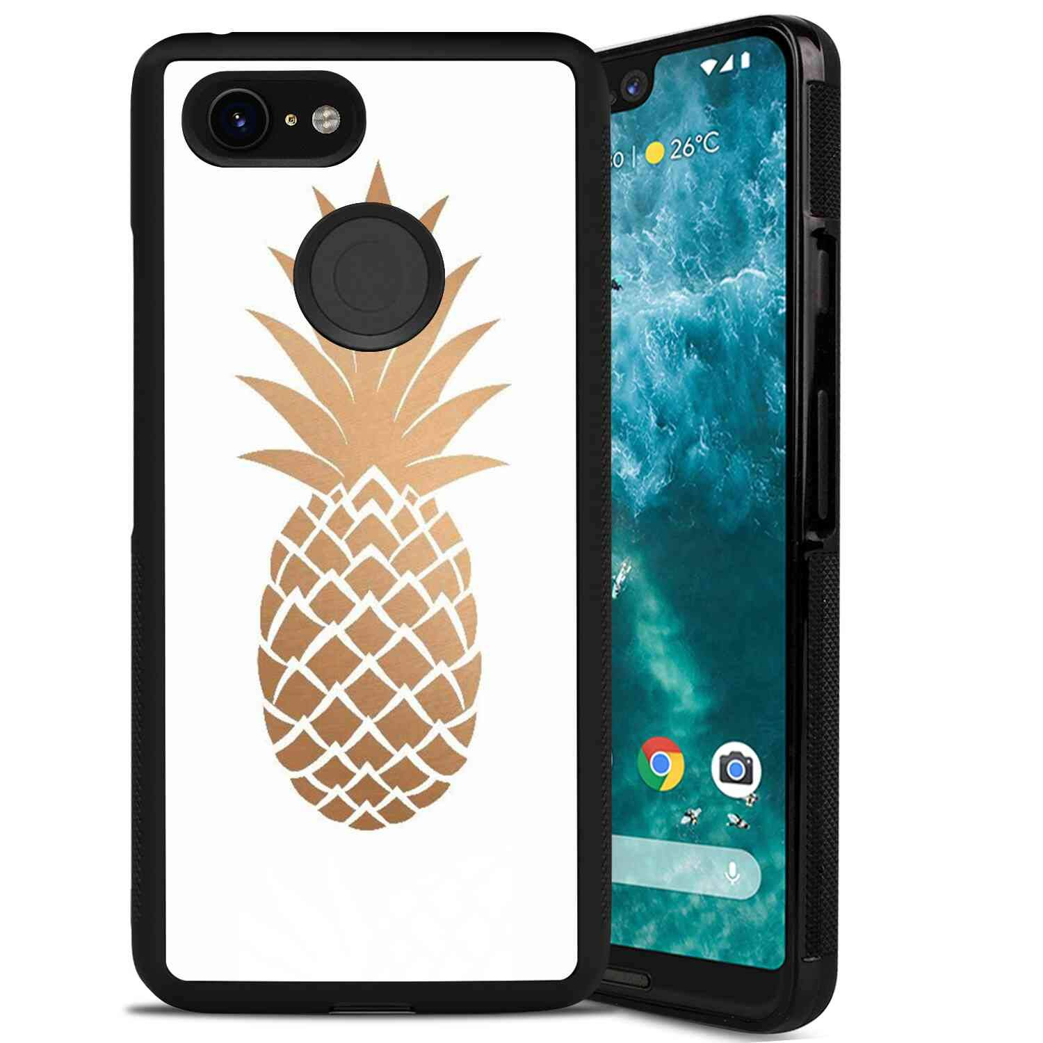 Amazoncom Golden Pineapple Art Phone Case Fits For Google