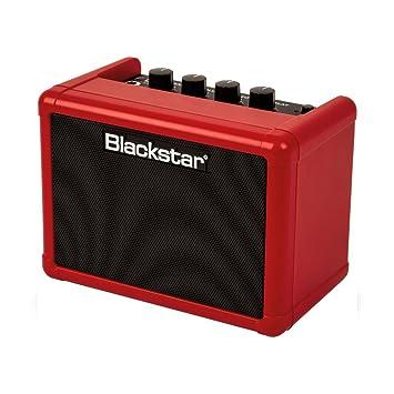 Blackstar Fly 3 Mini Amp amplificador para guitarra con pila rojo