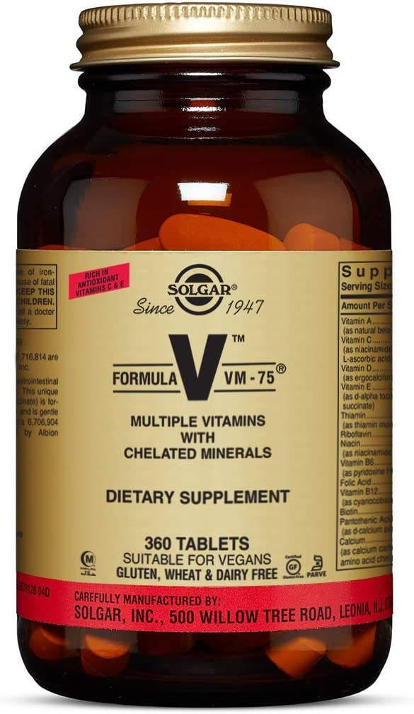 Solgar Formula VM-75, 360 Tablets
