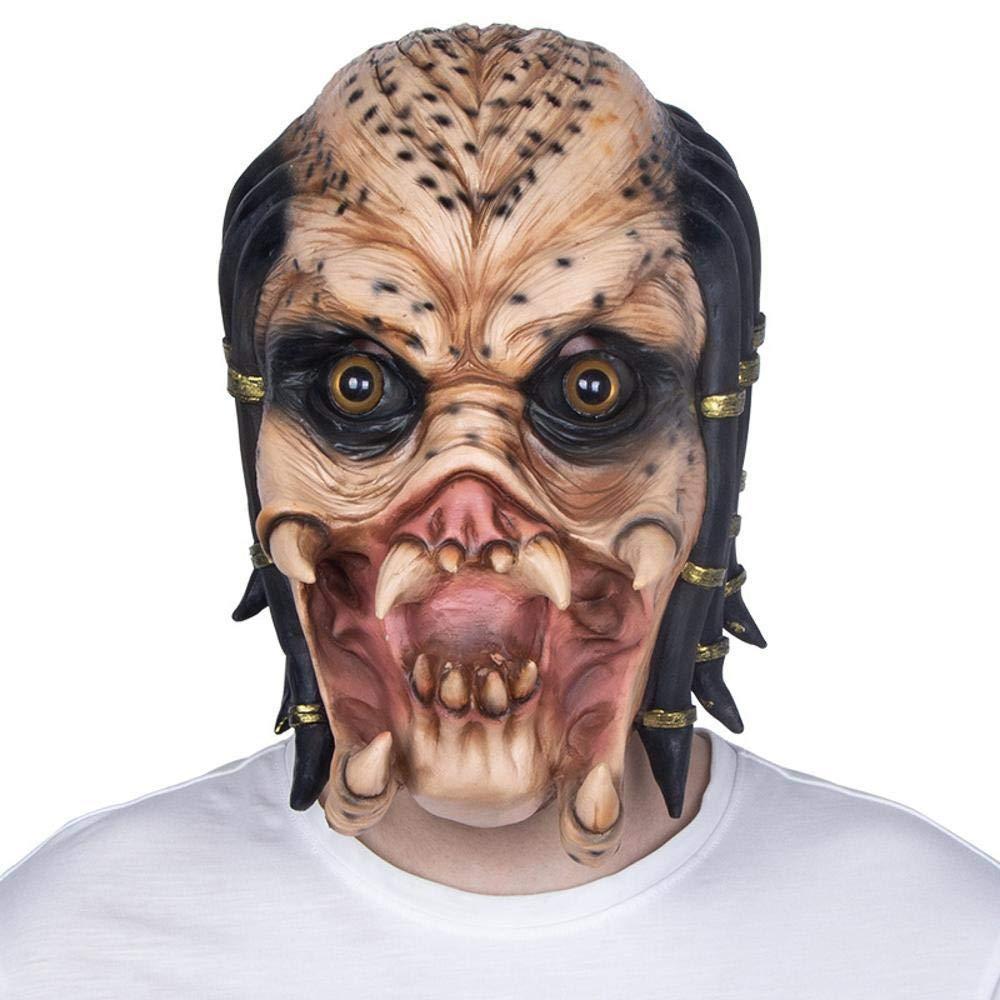 Circlefly Lattice Halloween Maschera Horror parrucca Costume palla alieno orrore maschera