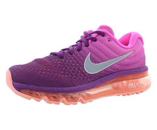 new arrival 3854c 23943 Nike Womens Air Max 2017 Running Shoes Bright GrapeWhitePink Fire  849560-502 Size 9 Amazon.in Shoes  Handbags